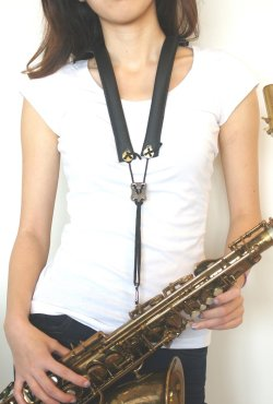 "Photo1: Marmaduke ""Feather"" Strap for saxophones"