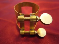 Photo3: T-Balance Ligature for Saxophone. Thinnest wall!  Made in France.