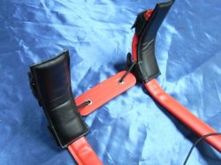 Photo3: Shoulder Pads for Marmaduke Feather Strap (one pair)