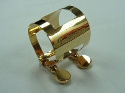 Photo1: T-Balance Ligature for Saxophone. Thinnest wall!  Rose Gold Plated. Made in France.